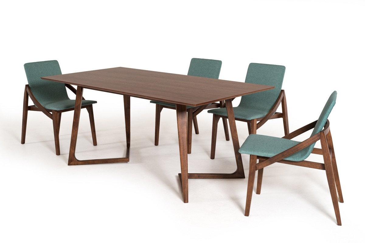 Mutable Sets Chairs Scandinavian Style Walnut Set San Francisco Walnut Table Houzz Walnut Table Set houzz 01 Walnut Dining Table