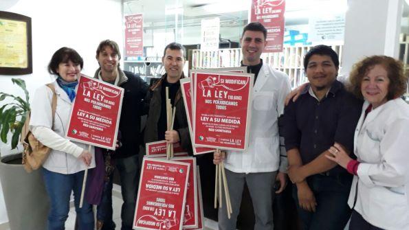 Los farmacéuticos del oeste, en su día: en cambio de celebración, la jornada este año los convoca a protestar en defensa de sus derechos.