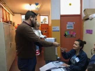 Votó Lucas Delfino