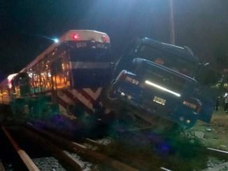 Accidente en las vías del Sarmiento