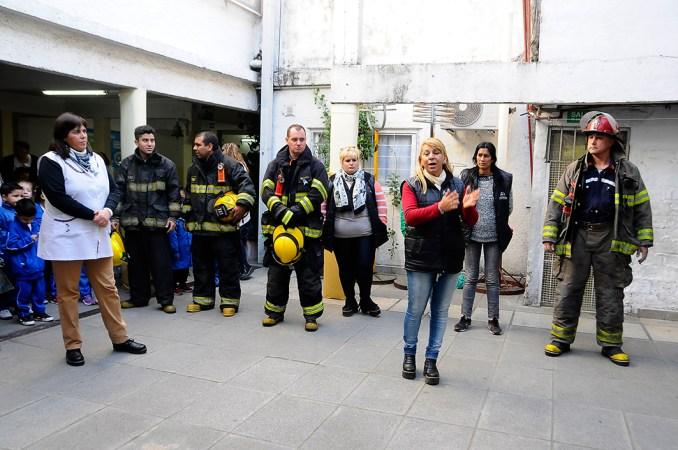 Simulacro de evacuación en Hurlingham