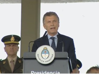 Macri en Día del Ejército