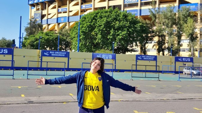Sofía en la Bombonera