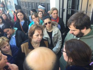 Marcha educativa en Ituzaingó
