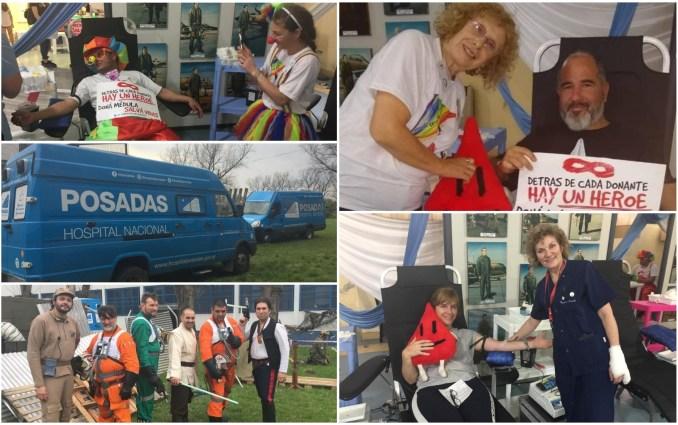 Payamédicos, superhéroes, la abuela de Alejito y el staff del Hospital Posadas fueron una vez más parte la jornada de donación de la que parte de Primer Plano Online fue parte.