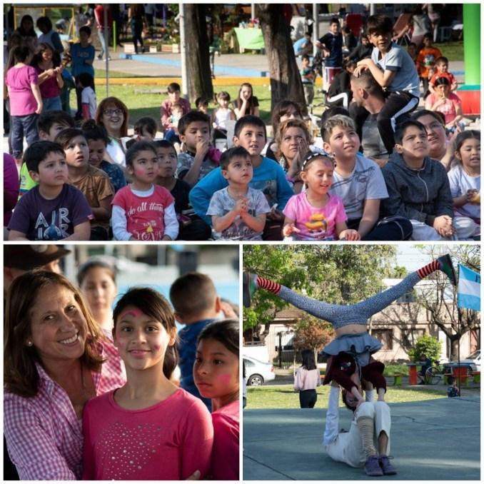 En la plaza Atahualpa de Ituzaingó se vivió una jornada de juegos para los chicos y mucha solidaridad