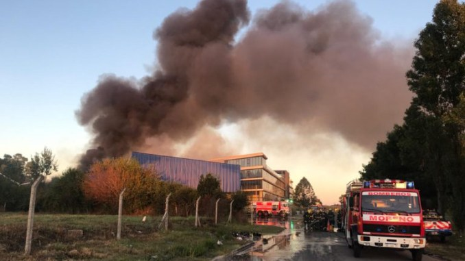 Incendio en Moreno