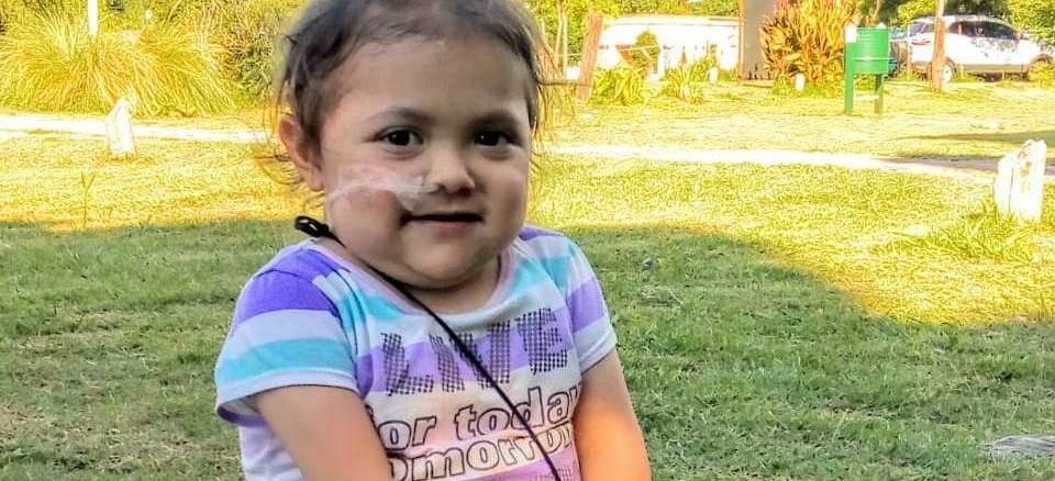 Julieta, días antes de llegar al Hospital Italiano para someterse a una intervención de rutina que derivó en un cuadro de extrema gravedad