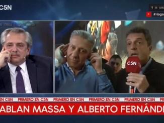 Massa y Alberto Fernández