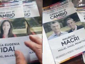Boletas con Macri escondido