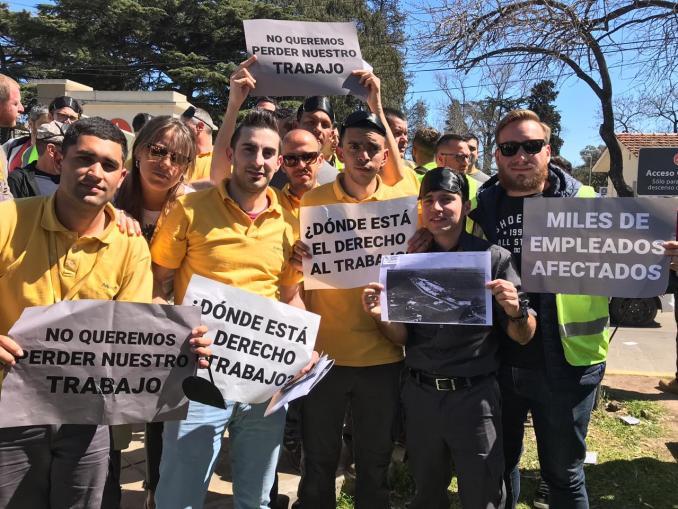 Protesta de trabajadores aeropuerto