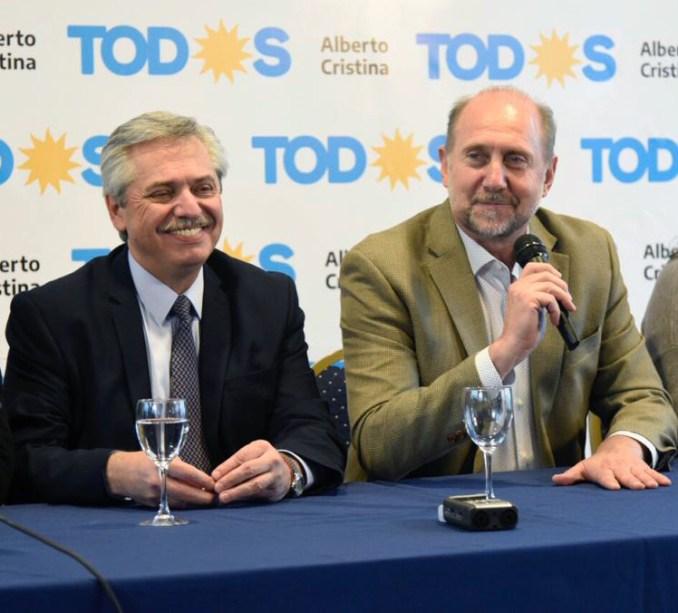 Alberto Fernández con Perotti