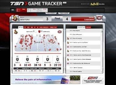 TSN GameTracker Advil Becomes Exclusive Partner On The TSN GameTracker