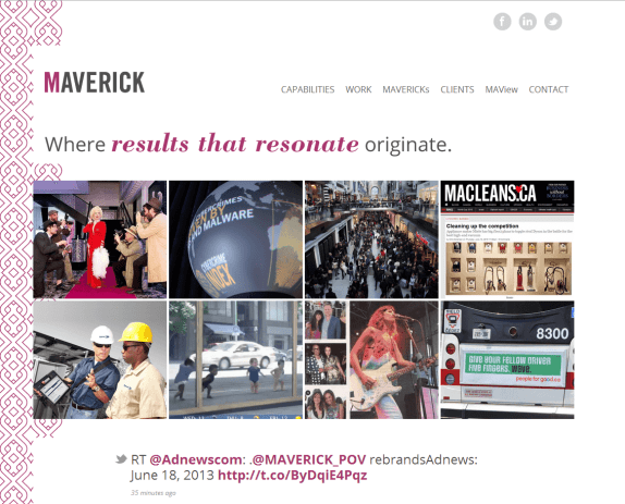Maverick home page 1024x827 Jennifer Nebesky Joins MAVERICK As Senior Vice President, Client Services