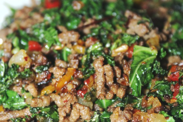Ground Beef And Kale