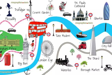 london map tourist attractions 349898