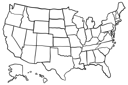 4 best images of 50 states printable out maps 50 states