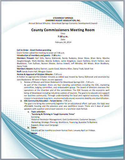 Printable Template Of Corporate Meeting Minutes Pictures to Pin on – Meeting Summary Template Word