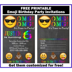 Relieving Free Customized Emoji Invitations Birthday Printables Emoji Birthday Invitations To Print Emoji Birthday Invitations Nz Up This Emoji Birthday Party Invitation invitations Emoji Birthday Invitations