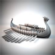 3DPrintable Viking Longboat
