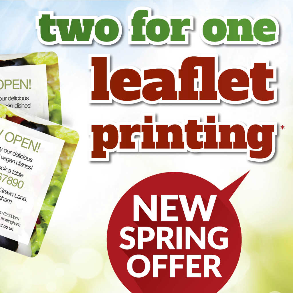 Two For One Leaflet Printing In Colchester