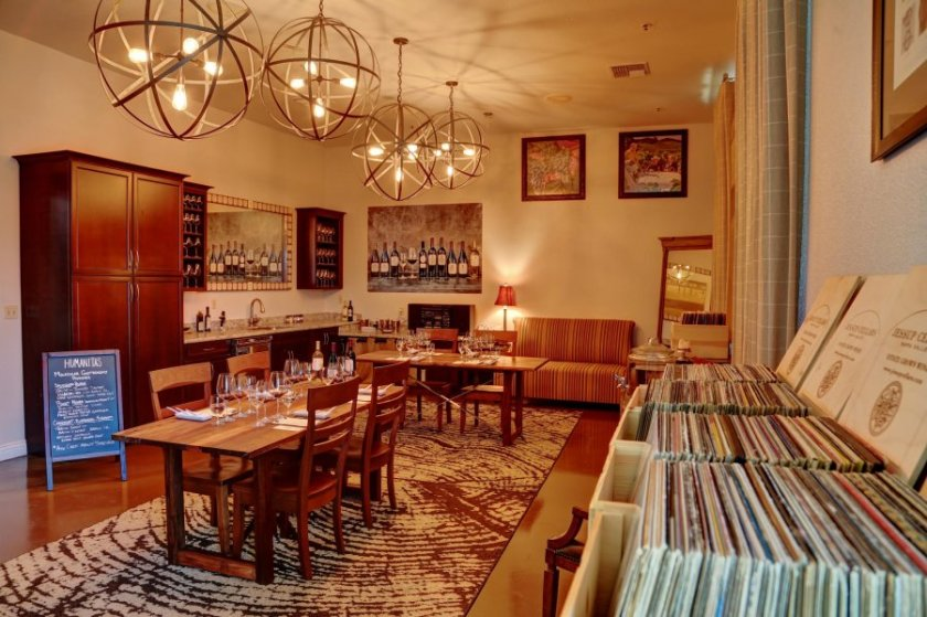 Our comfortable tasting annex. Come pick out a record to pair with your tasting!