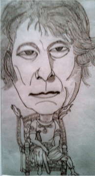 Charles Brady's caricature of Seamus Heaney