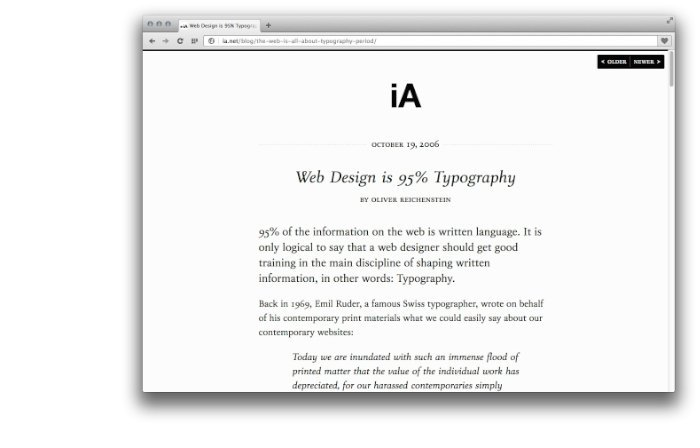 Web Design is 95 Percent Typography