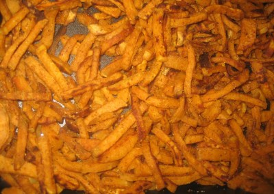 Baked Shoestring Sweet Potato