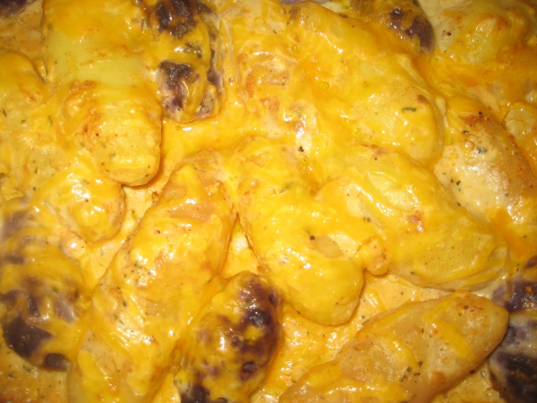 Fingerling Potatoes and Cheese Casserole
