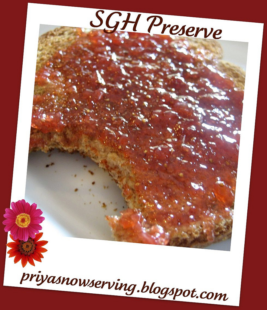 Strawberry-Ginger-Habanero Preserve With Agave Nectar & Honey
