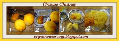 Orange chutney collage