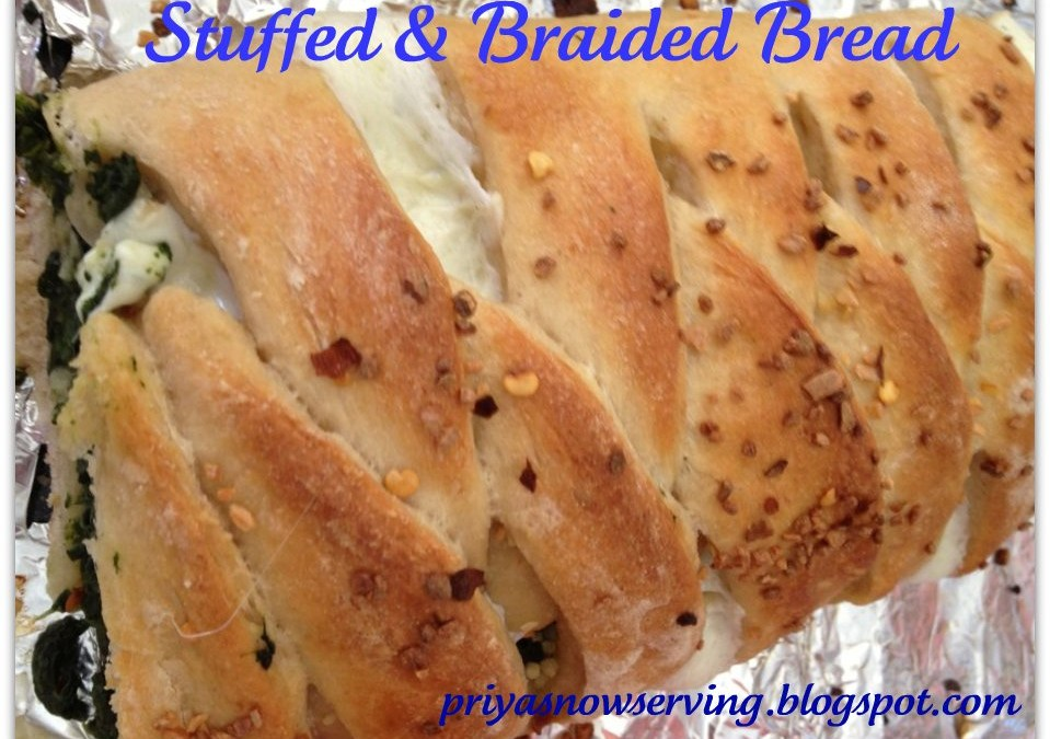 Stuffed Braided Bread for Blog Hop Wednesday