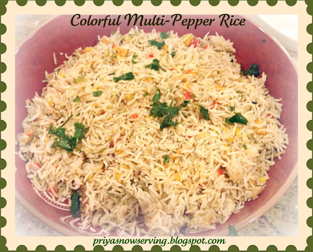 Colorful Pepper Pulao