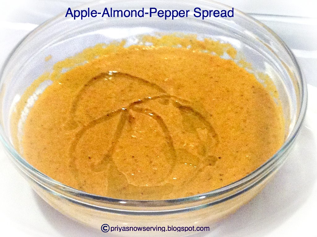 Apple, Almond & Pepper Chutney/Spread