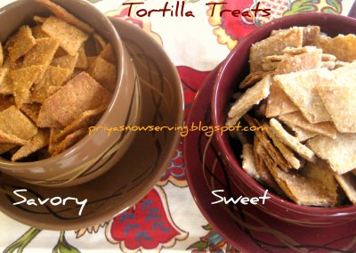 Sweet and Salty Tortilla Snack