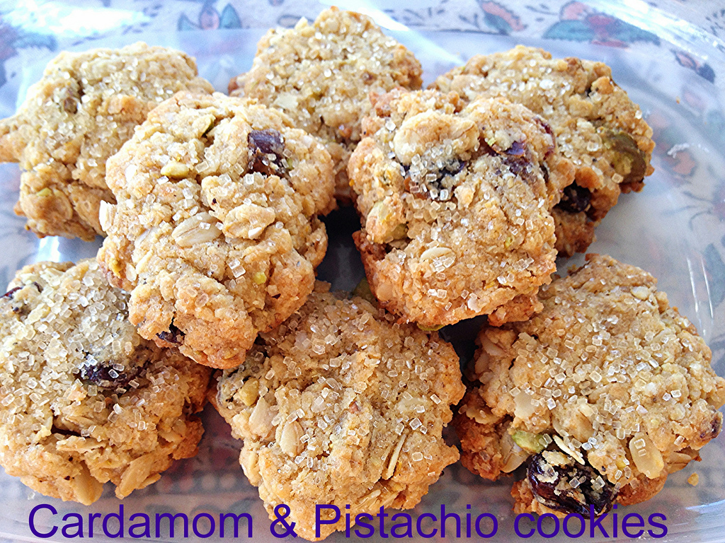 Cardamom and Pistachio Cookies