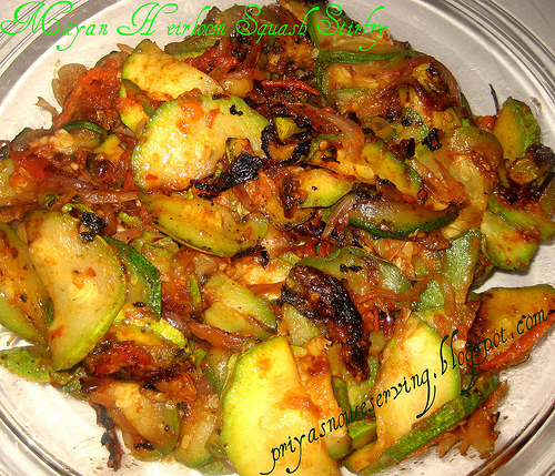 Mayan Heirloom Squash Stirfry Curry (Subzi)
