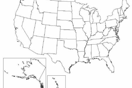 printable outline map of the usa united states with full