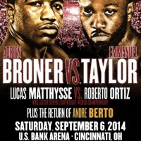 Adrien Broner, Lucas Matthysse, Andre Berto all inaction Sept 6 in Cincinnati