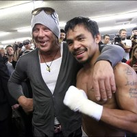 Actor Mickey Rourke, age 62, fighting in professional bout this weekend in Moscow