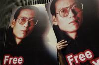 Liu Xiaobo, disidente chino. Apoyo en Hong Kong. Foto: AP