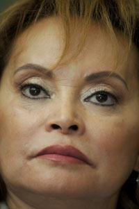Elba Esther Gordillo, líder del SNTE. Foto: Miguel Dimayuga