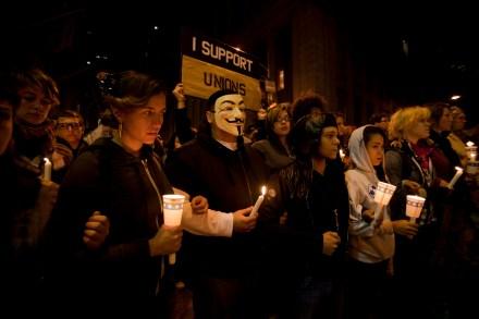 Una de las protestas en Wall Street. Foto: Alejandro Saldívar