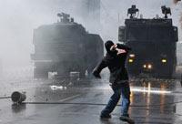 Una de las protestas estudiantiles en Chile. Foto: AP