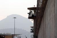 Una torre de vigilancia en el penal de Santa Martha. Foto: Eduardo Miranda