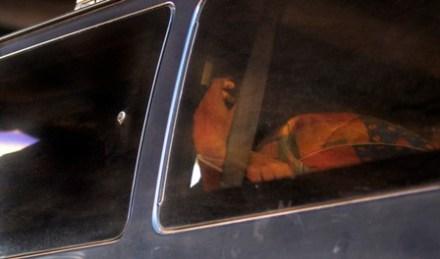 El hallazgo de 23 ejecutados en el interior de camionetas. Foto: Rafael del Río
