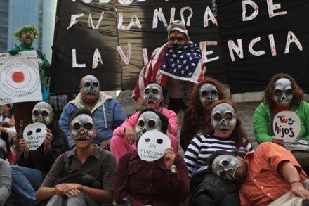 Conmemoración a un año del asesinato de Marisela Escobedo. Foto: Eduardo Miranda