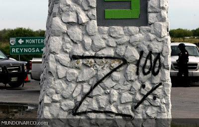 Una de las pintas que dejó el grupo delictivo en el lugar. Foto: Mundonarco.com