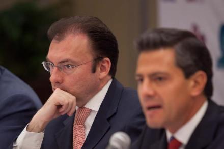 Luis Videgaray y Enrique Peña Nieto. Foto: Miguel Dimayuga